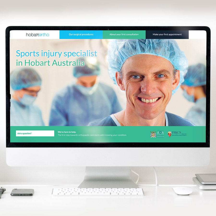 Hobart Orthodontics branding and website.