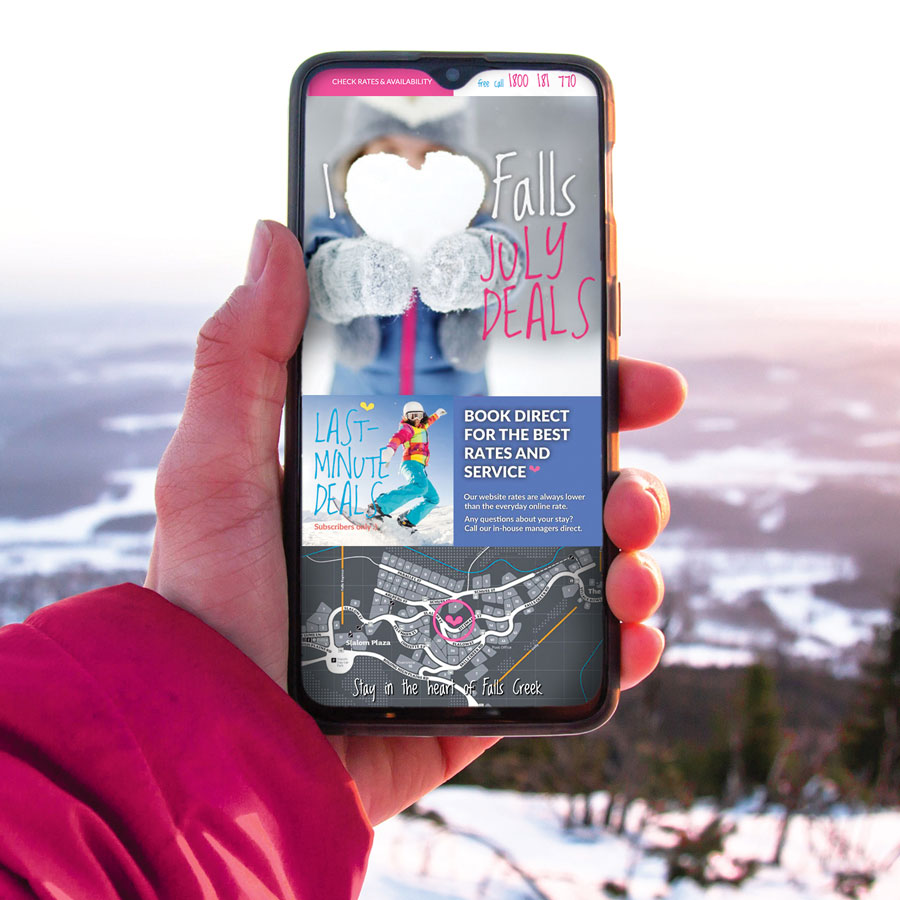 SilverSki Resort branding, website and e-commerce